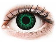 Zelené kontaktné šošovky - dioptrické - ColourVUE Eyelush Green - dioptrické (2šošovky)