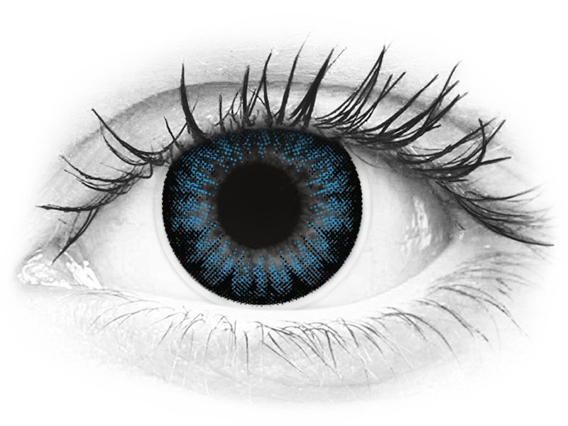 ColourVUE BigEyes Cool Blue - dioptrické (2šošovky) - ColourVUE BigEyes Cool Blue - dioptrické (2šošovky)