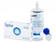 Kontaktné šošovky lacno - TopVue Monthly (6šošoviek) + roztok Laim Care 400ml