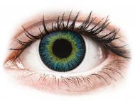 Modré kontaktné šošovky - nedioptrické - ColourVUE Fusion Yellow Blue - nedioptrické (2šošovky)