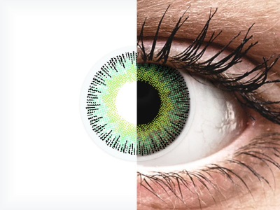 ColourVUE Fusion Green Yellow - dioptrické (2šošovky)