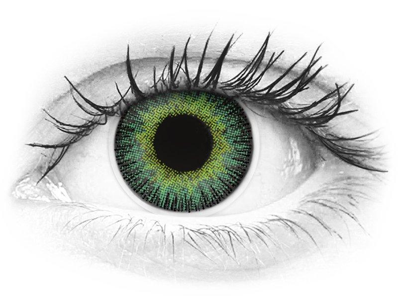 ColourVUE Fusion Green Yellow - dioptrické (2šošovky) - ColourVUE Fusion Green Yellow - dioptrické (2šošovky)
