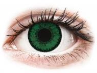 Mesačné kontaktné šošovky - SofLens Natural Colors Emerald - dioptrické (2 šošovky)