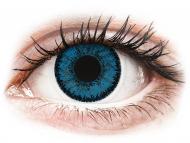 Modré kontaktné šošovky - dioptrické - SofLens Natural Colors Topaz - dioptrické (2 šošovky)