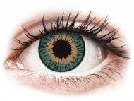 Mesačné kontaktné šošovky - Expressions Colors Aqua - nedioptrické (1 šošovka)