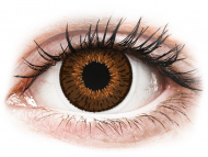 Mesačné kontaktné šošovky - Expressions Colors Brown - nedioptrické (1 šošovka)