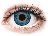 Mesačné kontaktné šošovky - Expressions Colors Dark Blue - dioptrické (1 šošovka)