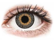 Sivé kontaktné šošovky - dioptrické - Expressions Colors Grey - dioptrické (1 šošovka)