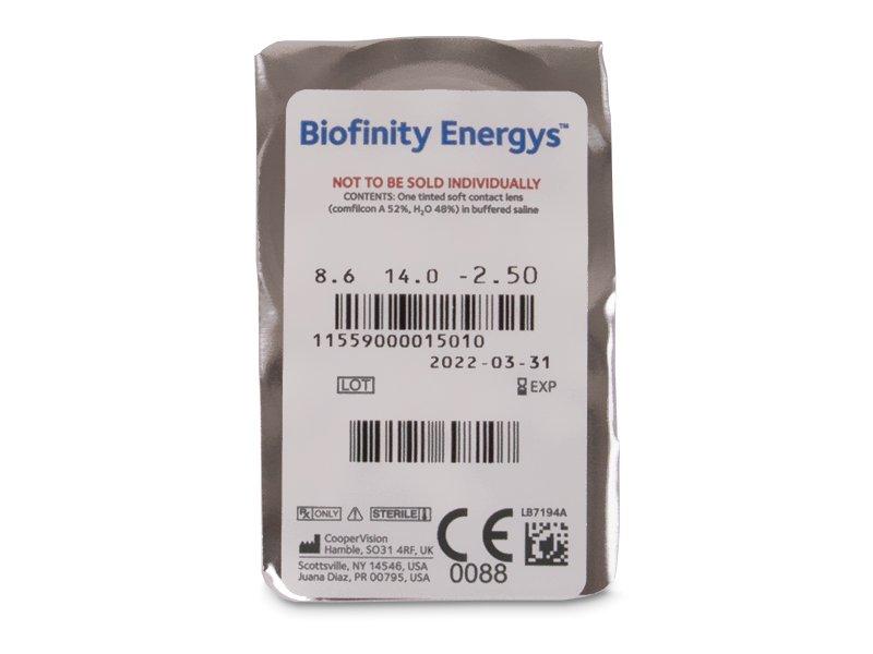 Biofinity Energys (3 šošovky) - Vzhľad blistra so šošovkou