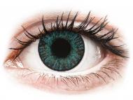 Mesačné kontaktné šošovky - FreshLook ColorBlends Brilliant Blue - dioptrické (2 šošovky)