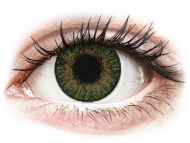 Mesačné kontaktné šošovky - FreshLook ColorBlends Gemstone Green - nedioptrické (2 šošovky)
