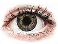Mesačné kontaktné šošovky - FreshLook ColorBlends Grey - dioptrické (2 šošovky)