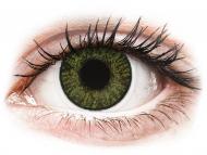 Mesačné kontaktné šošovky - FreshLook ColorBlends Green - dioptrické (2 šošovky)