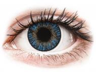 Mesačné kontaktné šošovky - FreshLook ColorBlends True Sapphire - dioptrické (2 šošovky)