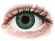 Mesačné kontaktné šošovky - FreshLook ColorBlends Turquoise - dioptrické (2 šošovky)