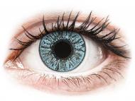 Mesačné kontaktné šošovky - FreshLook Colors Blue - dioptrické (2 šošovky)