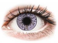 Mesačné kontaktné šošovky - FreshLook Colors Violet - dioptrické (2 šošovky)