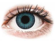 Mesačné kontaktné šošovky - Air Optix Colors - Brilliant Blue - dioptrické (2šošovky)