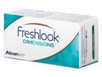 FreshLook Dimensions Carribean Aqua - dioptrické (6 šošoviek)
