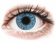 Mesačné kontaktné šošovky - FreshLook Colors Sapphire Blue - nedioptrické (2 šošovky)