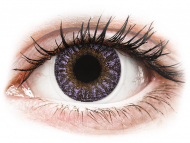 Mesačné kontaktné šošovky - TopVue Color - Violet - dioptrické (2šošovky)