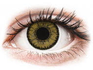 Mesačné kontaktné šošovky - SofLens Natural Colors Dark Hazel - nedioptrické (2 šošovky)