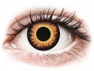 Kontaktné šošovky Maxvue Vision - ColourVUE Crazy Lens - Orange Werewolf - jednodenné nedioptrické (2 šošovky)
