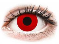 Červené kontaktné šošovky - nedioptrické - ColourVUE Crazy Lens - Red Devil - jednodenné nedioptrické (2 šošovky)
