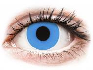 Modré kontaktné šošovky - nedioptrické - ColourVUE Crazy Lens - Sky Blue - jednodenné nedioptrické (2 šošovky)