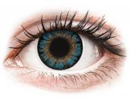 Modré kontaktné šošovky - dioptrické - ColourVue One Day TruBlends Blue - dioptrické (10 šošoviek)