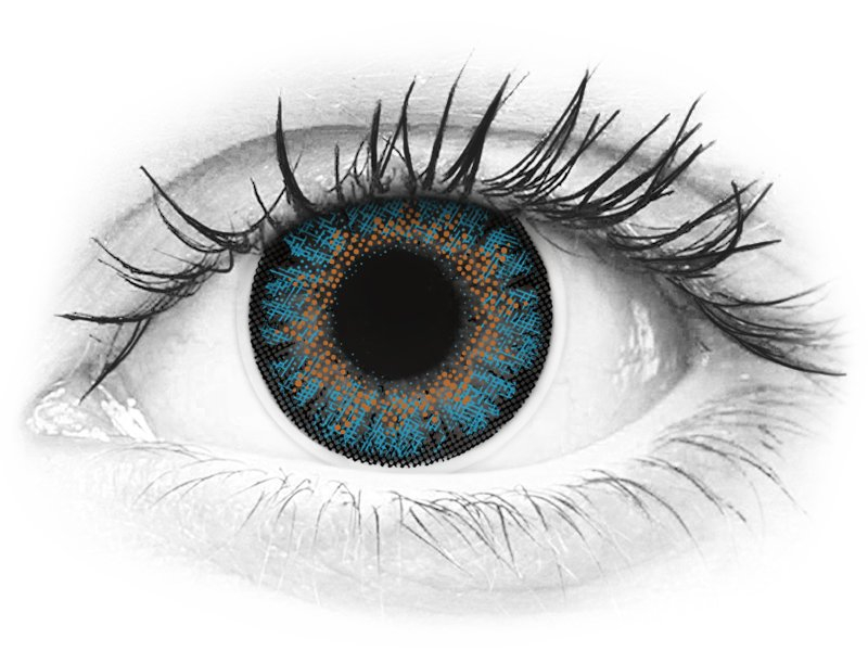 ColourVue One Day TruBlends Blue - dioptrické (10 šošoviek)