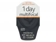 43e1c473c ... Proclear 1 Day multifocal (30 šošoviek) - Vzhľad blistra so šošovkou