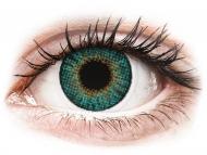 Mesačné kontaktné šošovky - Air Optix Colors - Turquoise - dioptrické (2šošovky)
