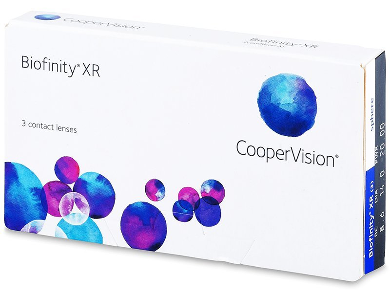 Biofinity XR (3šošovky) - Mesačné kontaktné šošovky