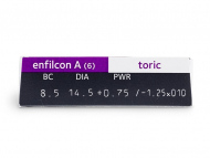 Avaira Toric (6šošoviek) - Náhľad parametrov šošoviek