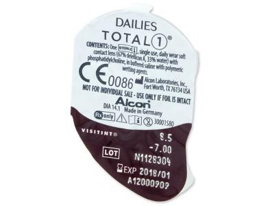 Vzhľad blistra so šošovkou - Dailies TOTAL1 (90šošovky)