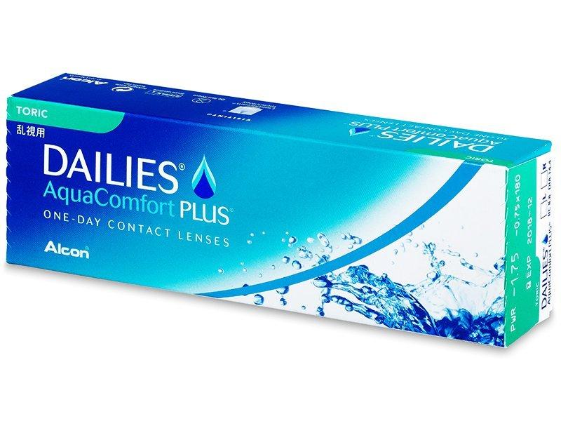 Dailies AquaComfort Plus Toric (30šošoviek) - Torické kontaktné šošovky