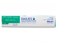 Dailies AquaComfort Plus Toric (90šošoviek) - Náhľad parametrov šošoviek