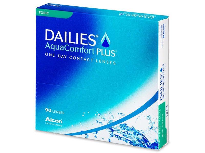 Dailies AquaComfort Plus Toric (90šošoviek) - Torické kontaktné šošovky
