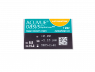 Acuvue Oasys 1-Day with HydraLuxe for Astigmatism (30 šošoviek) - Náhľad parametrov šošoviek