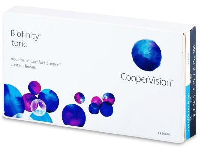 Torické kontaktné šošovky - Biofinity Toric (6šošoviek)
