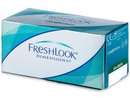Farebné kontaktné šošovky - kozmetické očné šošovky - zmena farby očí - FreshLook Dimensions - dioptrické (6šošoviek)