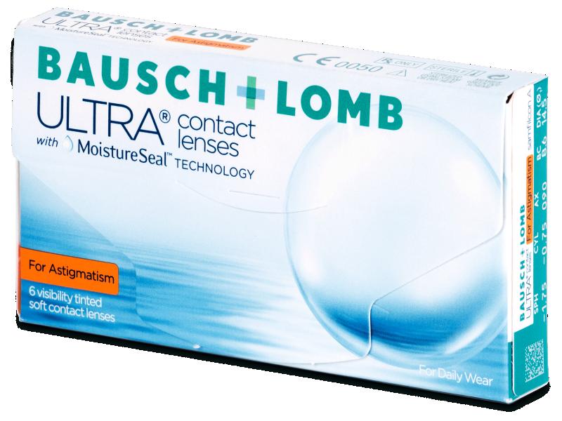 Torické kontaktné šošovky - Bausch + Lomb ULTRA for Astigmatism (6 šošoviek)