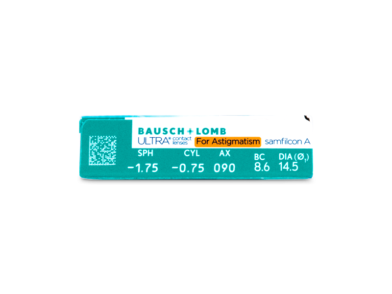 Náhľad parametrov šošoviek - Bausch + Lomb ULTRA for Astigmatism (6 šošoviek)