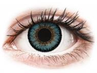Modré kontaktné šošovky - nedioptrické - ColourVUE 3 Tones Aqua - nedioptrické (2šošovky)