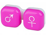 Puzdra a kazetky - Puzdro na šošovky muž a žena - ružové