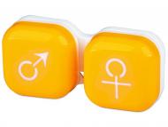 Puzdra a kazetky - Puzdro na šošovky muž a žena - žlté