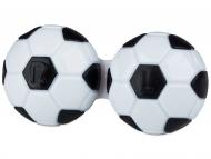 Puzdra a kazetky - Puzdro na šošovky Futbal - čierne