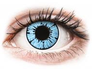 Modré kontaktné šošovky - nedioptrické - ColourVUE Crazy Lens - Blizzard - nedioptrické (2čočky)