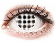 Nedioptrické farebné šošovky - ColourVUE Crazy Lens - White Screen - nedioptrické (2čoček)
